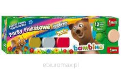 Farby Plakatowe Bambino Majewski 12 Kolorow 20 Ml